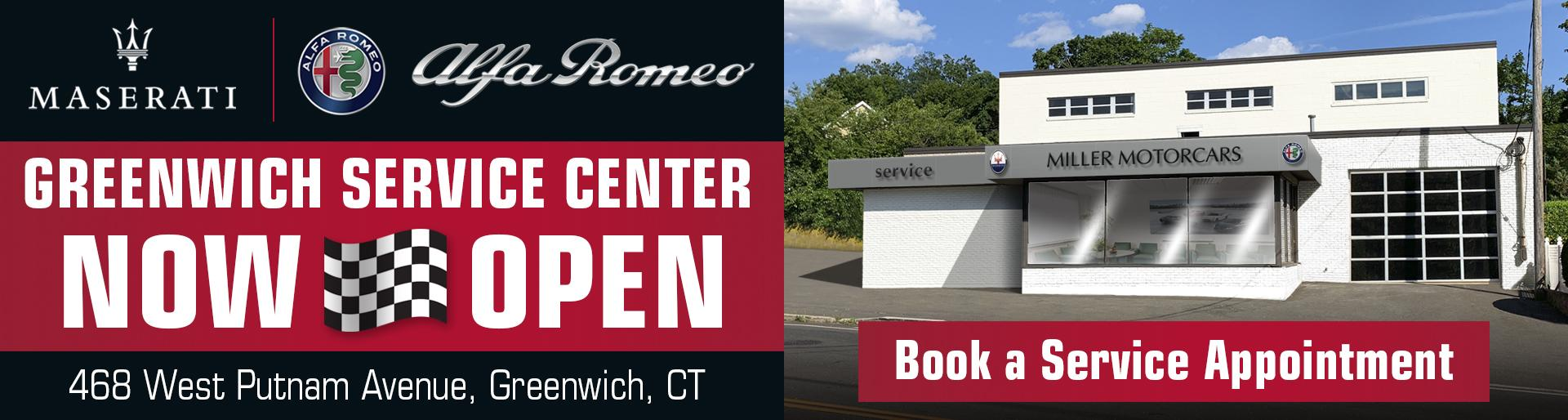 Greenwich Service Center Now Open! Book a Service Appointment!